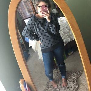 NWOT {J. Crew} Crewneck Polka Dot Sweater Size L